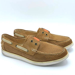 TOMMY BAHAMA Mahlue Mens Tan Boat Shoes Size 9.5
